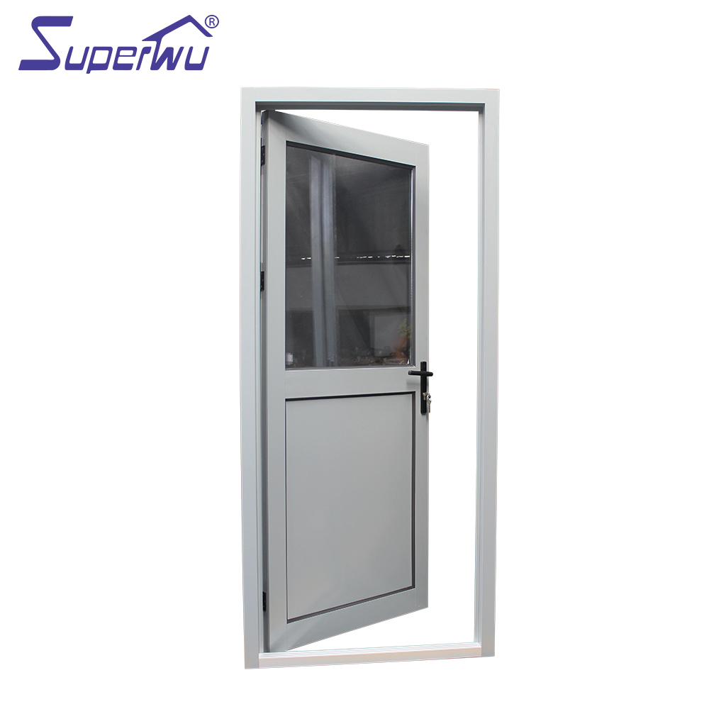 Australia Standard Double Glass Aluminium Hinged Door Half
