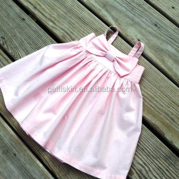 d29492310 Baby Girls Smocked Dress Plain Pink Baby Frocks Design Dress For ...