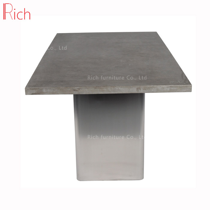 Outdoor Concrete Furniture Dining Table Square Cement Top Garden Product On Alibaba