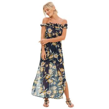 Hombro Señoras Vestidos Moda 2018 Multi Desgaste Long Beach Vestido Buy Vestido De Las Señoras Del Hombro2018 Multi Desgaste Largo Vestido De
