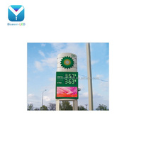 "36/42/48/60/64/72"" Oil/fuel/petrol station 7 segment 4 digit gas price LED display/sign/changer supplier"