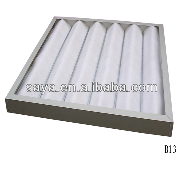 washable panel air filter with portable panel structure