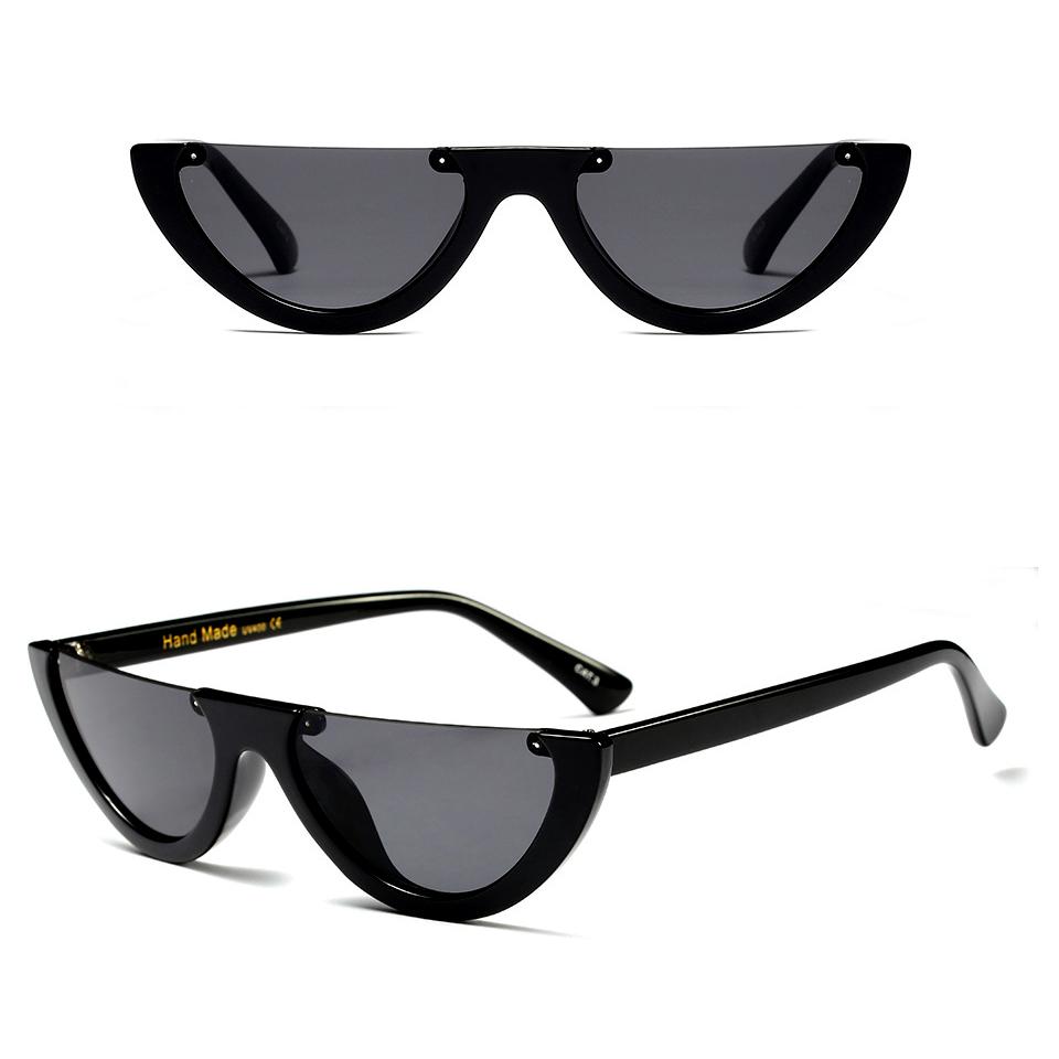 DLL97370 High Fashion Unique Women Semicircle Frame Half Round Sunglasses фото