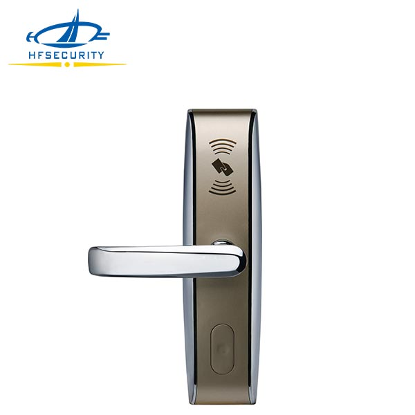 European Style Door Handle Lock with Free Software for Hotel(HF-LM702)