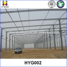 Prefabricated factory building construction steel