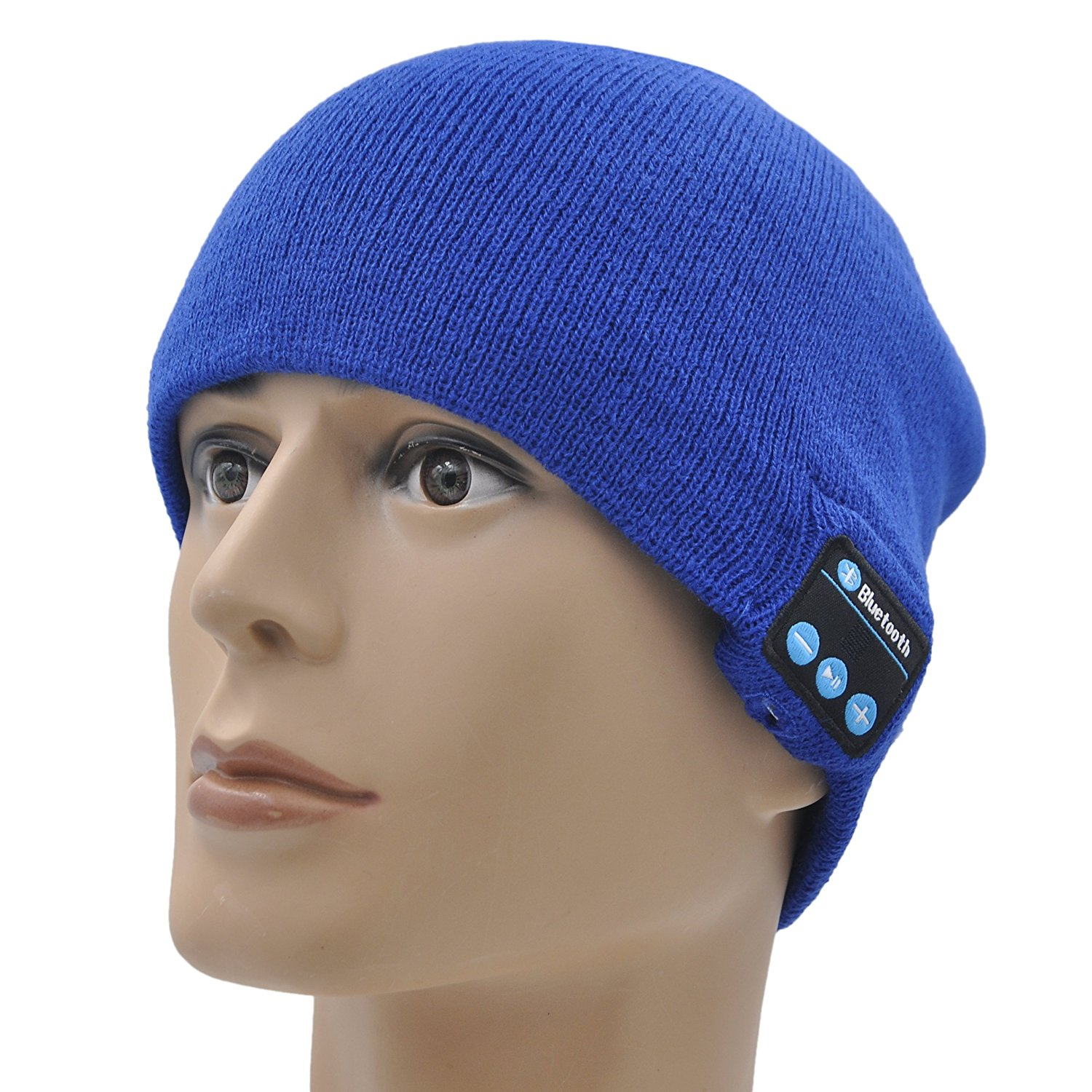 7c2bc358745 Get Quotations · XIKEZAN Bluetooth Beanie Hat Wireless Men   Women Knit  Winter Cap With Built- in Stereo