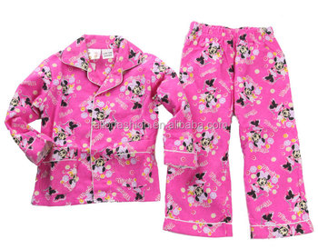 Girls Cotton Flannel Pajamas Toddler Cotton Flannel Pajamas Winter ...