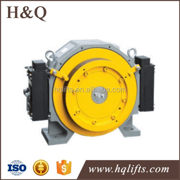 2000KG TORIN Elevator Gearless Traction Machine GTW7 Lift Motor