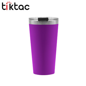 BPA Free Eco-Friendly 16oz Stainless Steel Coffee Mug Vacuum insulated Tumbler Cups