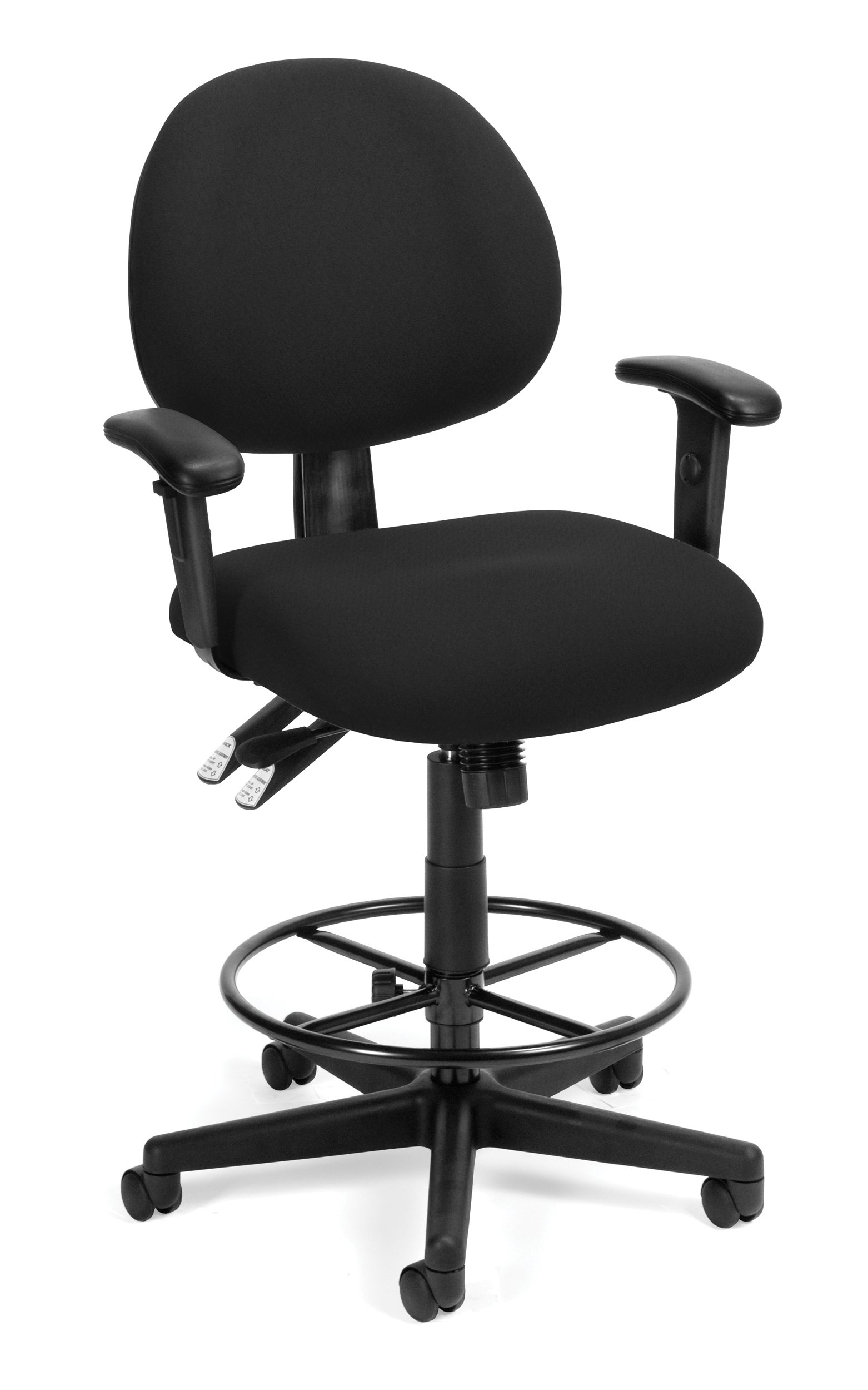 OFM 241-DK 24 Hour Ergonomic Computer Task Chair with Drafting Kit