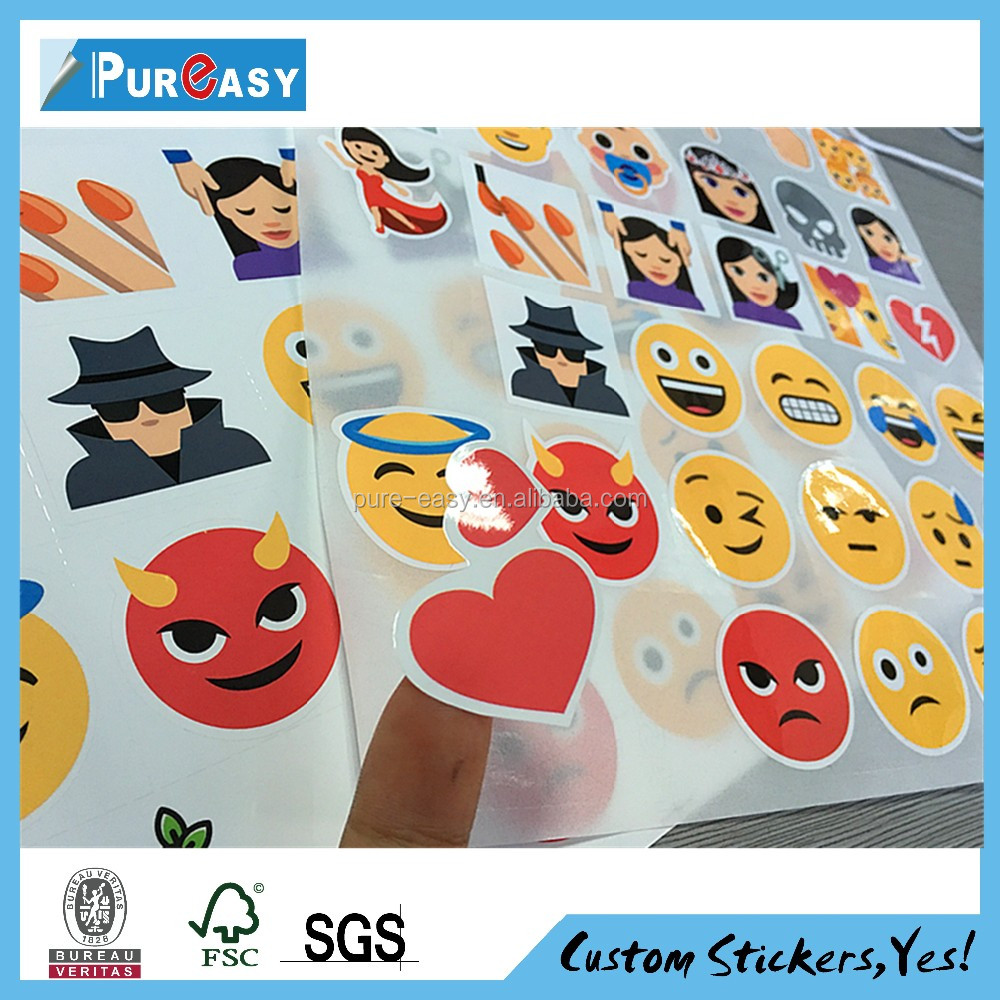 Custom made promotion label pre cut logo stickers sheet