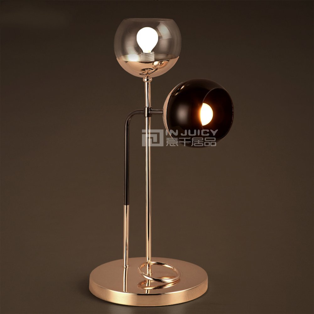 Injuicy Lighting Nordic LED Iron Glass Bedroom Eyesafe Table Desk Lamp Light Gift Cafe Bar (#A)