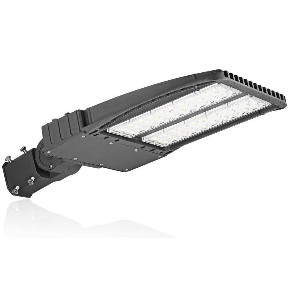 1000LED LED Shoebox Pole Light, 200W 21,500 Lumens, (600W-750W Eq.), Parking Lot Flood Light, 5000K, AC110-277V, Waterproof IP65, Slip Fitter Mount, Street Area
