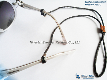 8c0273f2e1 Óculos de sol de couro Óculos Eyewear Cordão Strap Cording Corda Retentor  Titular corda de óculos