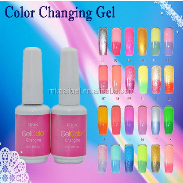 led uv soak off polish RNK color changing gel polish color chameleon professional manicure supplies nail changing color gel