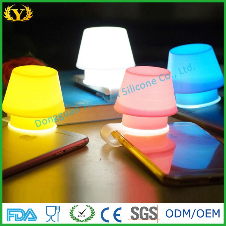 Eco-friendly high quality novelty silicone lamp cover for mobile phone