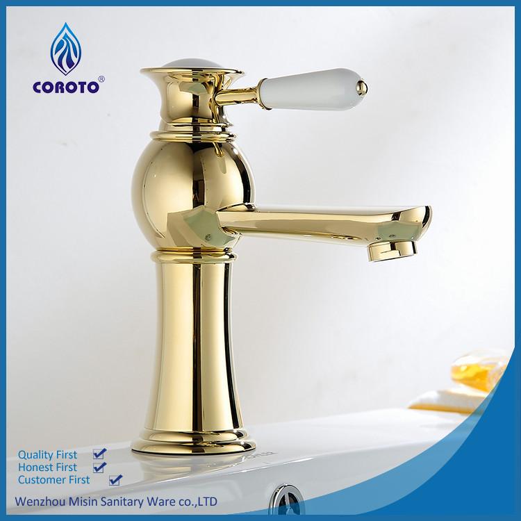 Dise o de oro brass lavabo grifo cl sico identificaci n - Grifos de lavabo de diseno ...