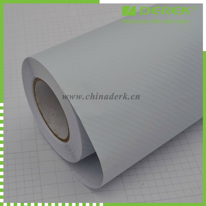 3D white carbon fiber film carbon fibre vinyl covers carbon fiber vinyl car wraps