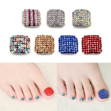 nail patch nail toenail alloy diamond jewelry the fale nail for the foot feet nail art decorations strass ongle