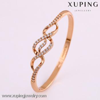 50819 Xuping bijoux nouveau design or rose couleur bracelet