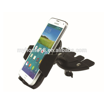 CD Slot Mount mobile cell phone stand holder anti-slip vehicle-mounted sponge car phone holder in car