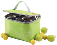 Portable fitness fruits fresh PP laminated non woven+Aluminum foil+PVC lining cooler/ice bag