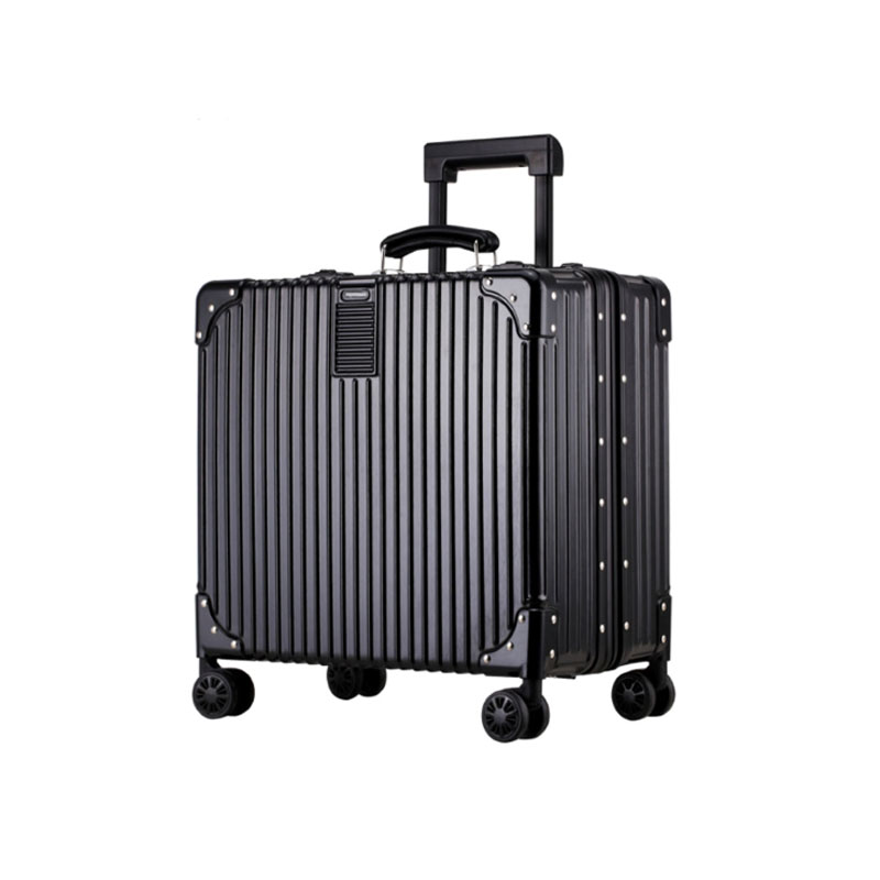 Men Super Business Swivel Rolling Zipper ABS Antique Luggage In Airline