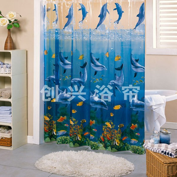 Printed Clear Pvc Shower Curtain, Printed Clear Pvc Shower Curtain ...