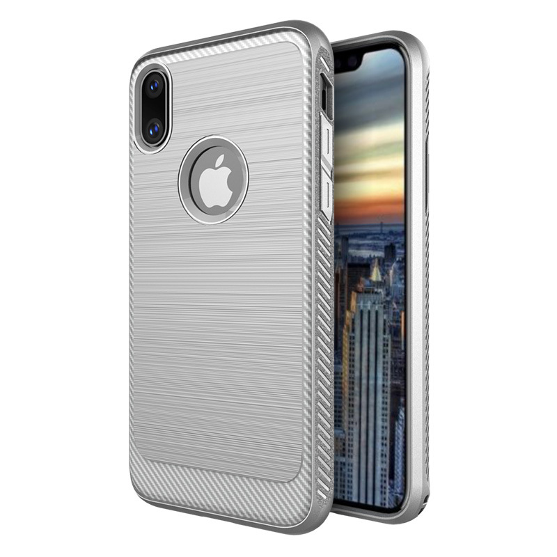 2017 Best Selling Shockproof Brush Carbon Fiber TPU Phone Case Cover for Apple iPhone 8