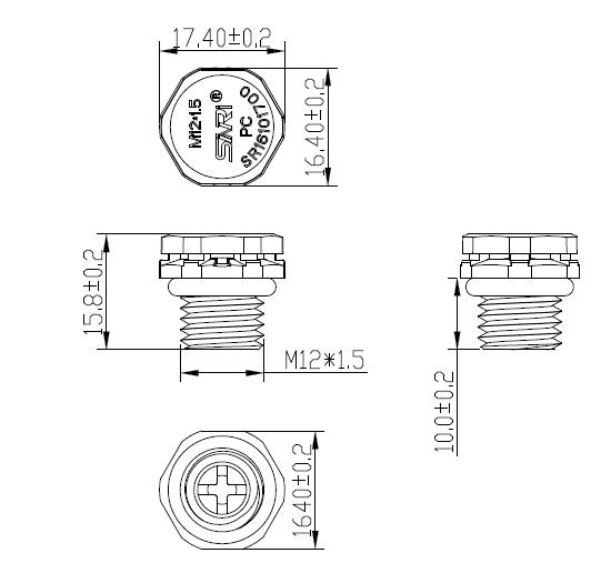 Sinri Pressure Equalizing Valves Screw Gore Vent M12x1 5 E-ptfe Vent Plug -  Buy Pressure Equalizing E-ptfe Vent Plug,Screw Gore Vent M12x1 5 Vent