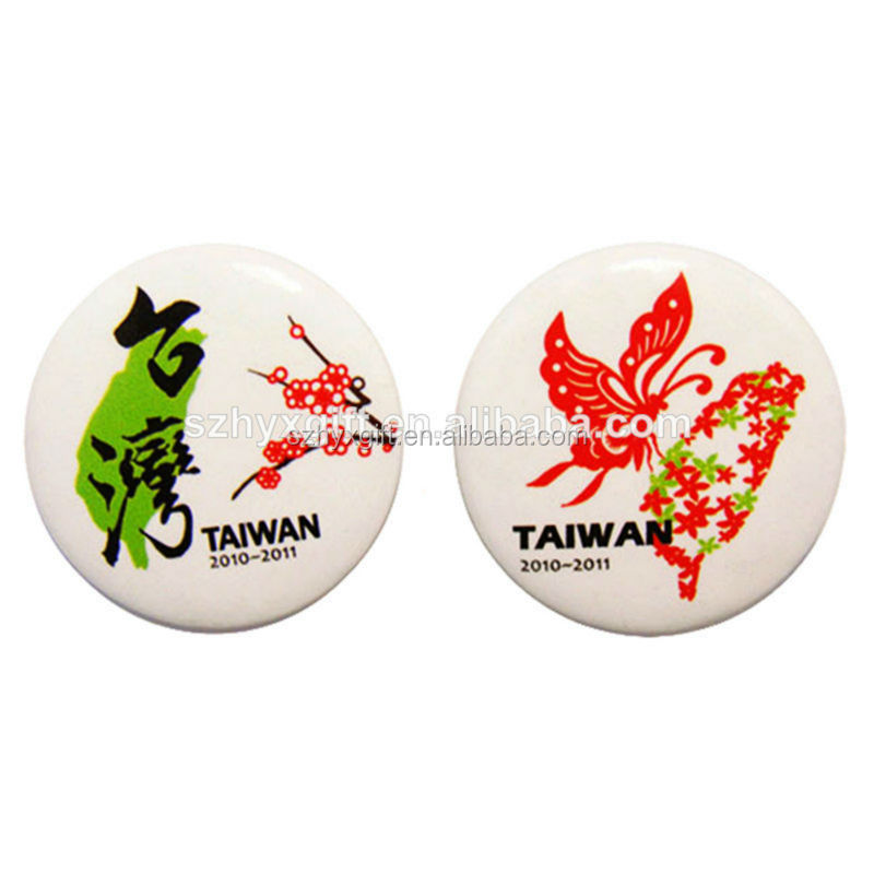 Customized Round Quality Factory Direct Sale Handmade Tin Pin Back Button Badge, Button Profession Supplier in bulk
