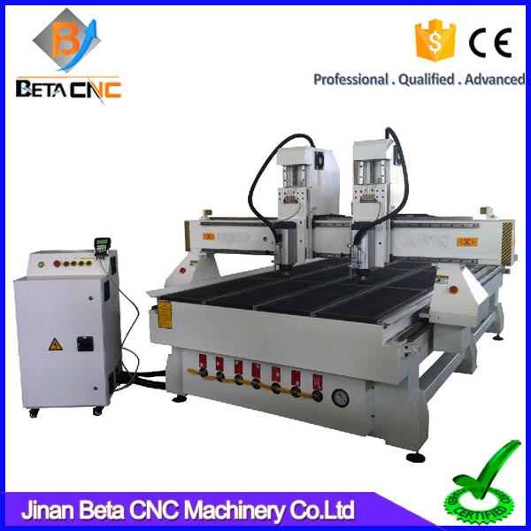 China alibaba wood design cnc engraving machine price list,3 axis double head cnc cutting machinery for aluminum acrylic