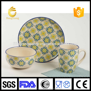 Wholesale ceramic dinner set cheap mugs plate and bowl