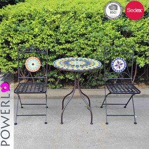 Recycled Wrought Iron Mosaic Outdoor Furniture