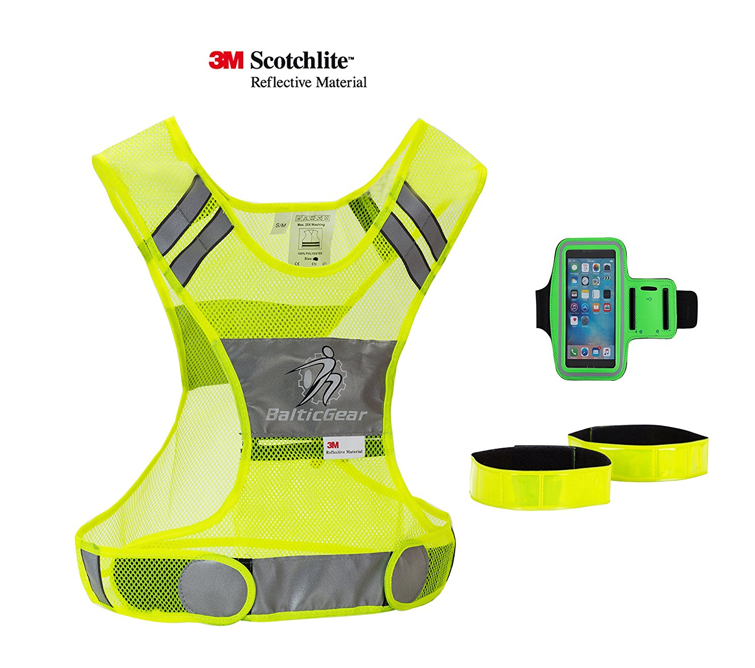 Back To Search Resultsunderwear & Sleepwears Reflective Vest High Visibility Safety Strap Cycling Jogging Running Adjustable Shapers Orange Green Black Purple Red High Quality Goods Men's Underwear