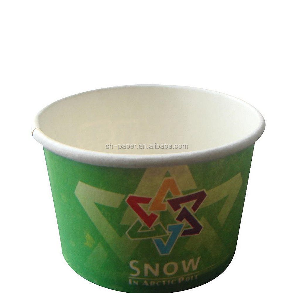 Food grade double PE ice cream paper bowl with flexo printing