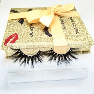 2019 wholesale new lashes 25mm faux mink eyelashes custom synthetic silk eyelash private label cheap 5d 25mm long lashes