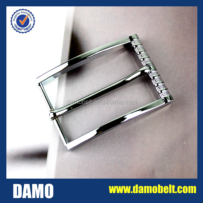 35mm shiny silver plated meting pin strap buckle men buckles(CZ1605-24)