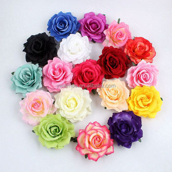Wholesale Yiwu Aimee artificial silk flower rose heads for wedding decoration(AM-SR01)