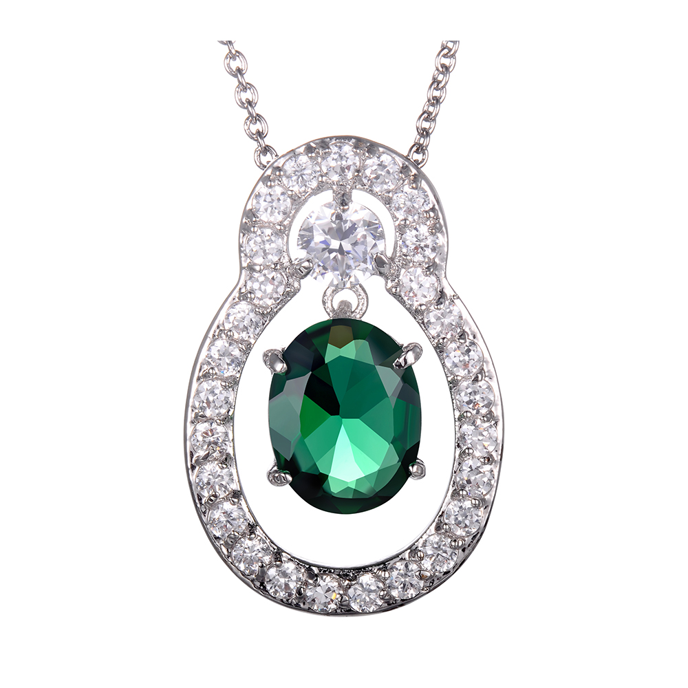 Wholesale fashion jewelry pendant necklace inlay crystal cubic zirconia