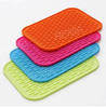 RENJIA customized 3d logo shaped silicone coaster plastic anti-slip mat anti-slip silicone mat