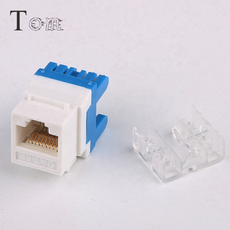 TOM-KJ-4-C5 rj45 UTP Cat5e keystone jack 180 degree Keystone modular jack