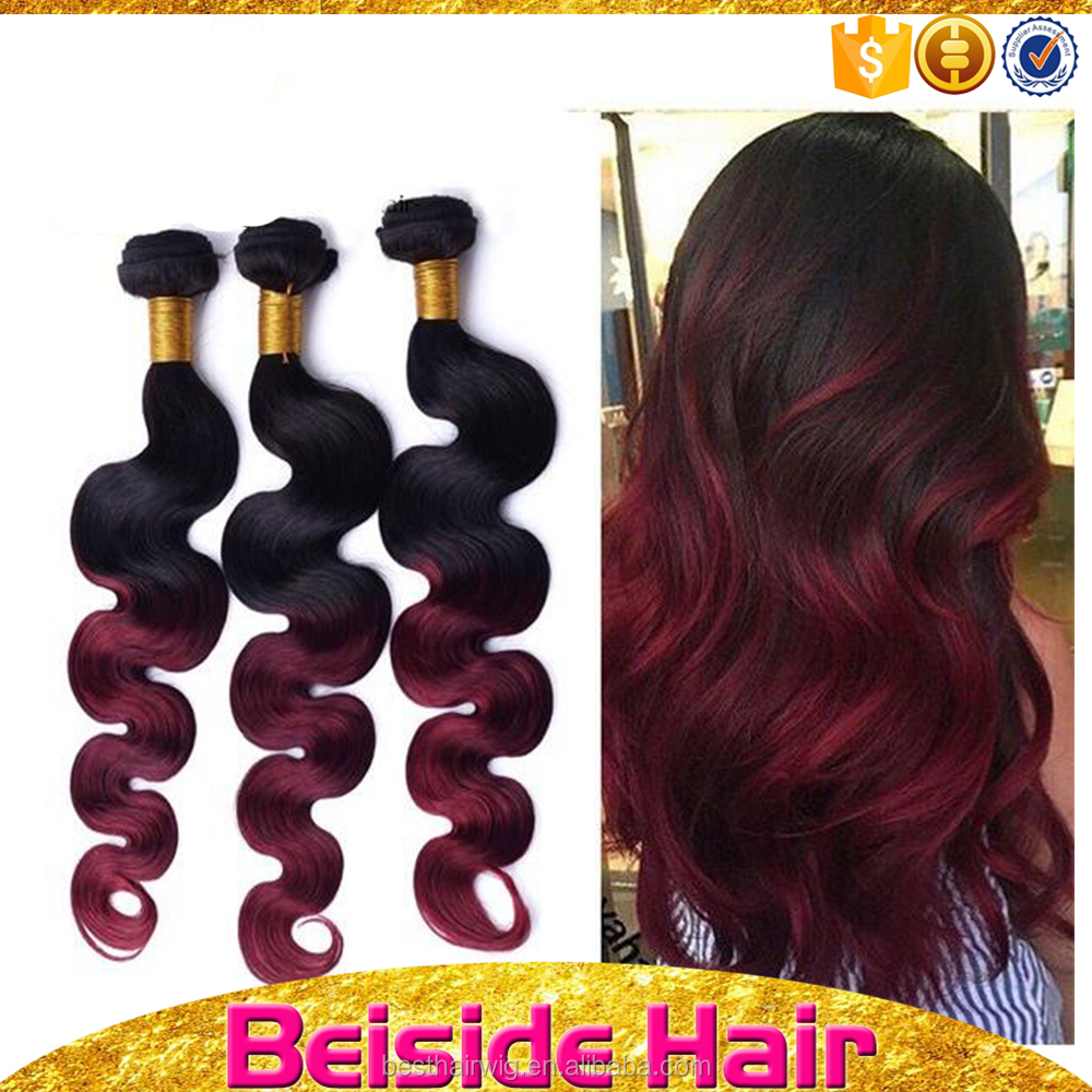 Dhairboutique brazilian body wave two-tone j-body hair weave