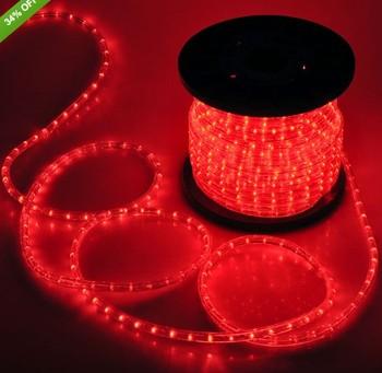 Incandescent Rope Lights 1 2 12v Red Outdoor Led Lighting By The Foot Topsung