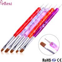 PinPai Brand professional 5pcs nail tool set gel plastic polish art nail brush