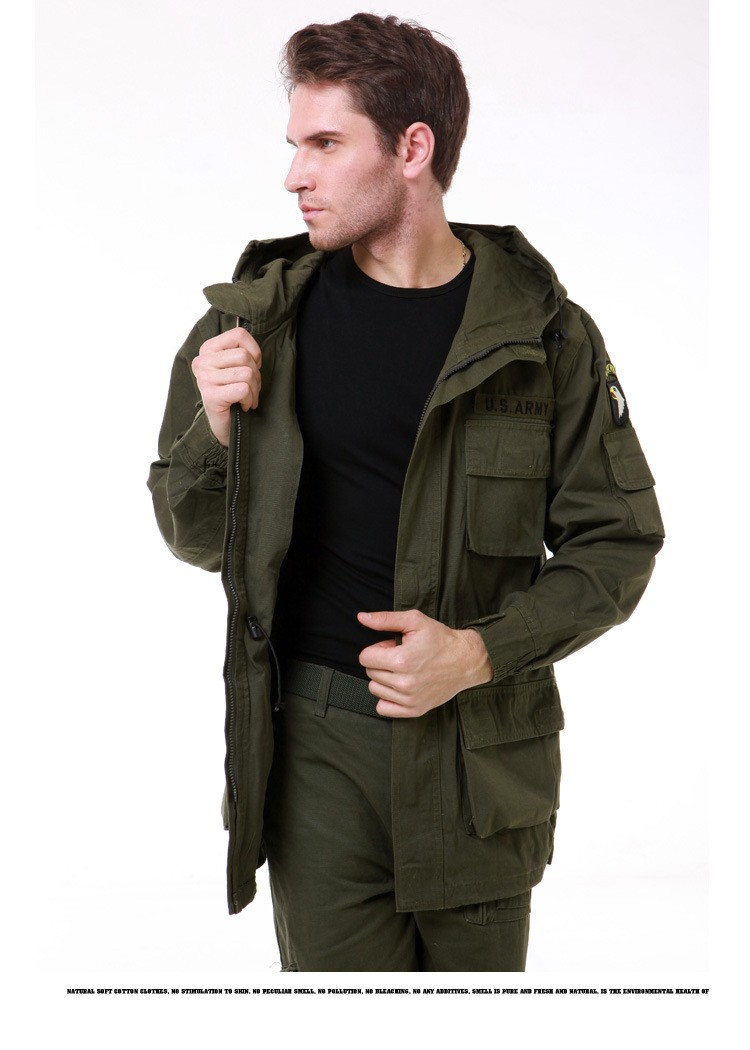 3f4e5ce0d9d Mens Winter Military Cotton Brand Jackets 101st Airborne Division ...