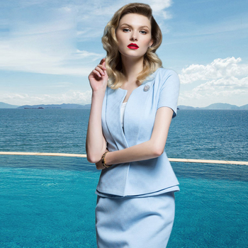 959e3d59d0d6 Summer skirt suits elegant women business suit formal office female work  wear
