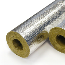 Aluminum Foil Thermal Fireproof Rockwool Pipe Insulation