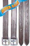 Derby Originals Premium Quality English Stirrup Leathers, Black