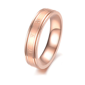 Rose Gold Rings Engagement- Custom 3 Color Rings Sets-Unisex- Black,Silver,Rose Gold (Your logo is Available)